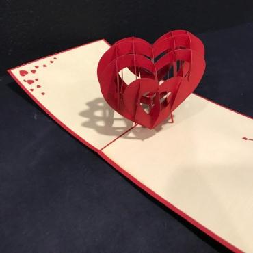 Открытка ручной работы «Сердечко»