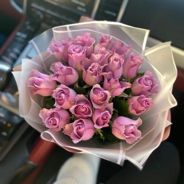 25 роз Кения в оформление
