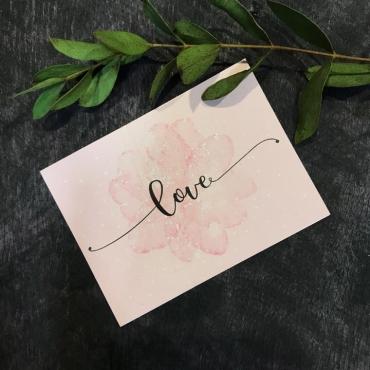Мини записка «Love»