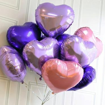 Фольгированные шары в виде сердца