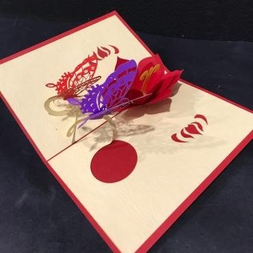 Открытка ручной работы «Бабочка»