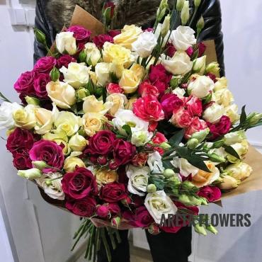 Кустовые розы (Микс) букет «Дарина»