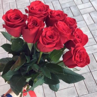 9 роз Эквадор (70 см)
