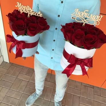 Розы в коробке Арета