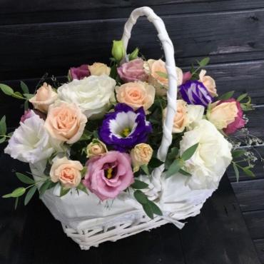Цветы в корзине «Твоё вдохновение»