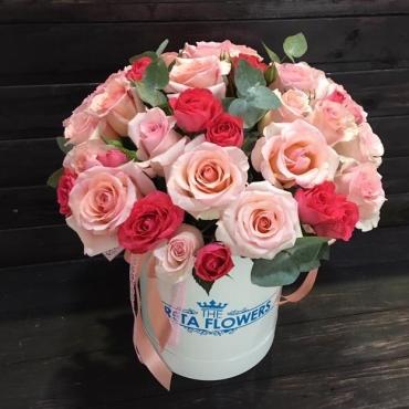 Большая коробка роз «Принцесса»