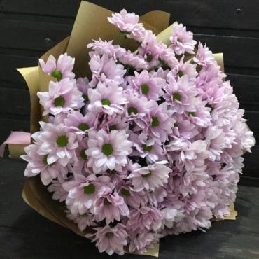 Букет ромашковых хризантем «Зефирка»