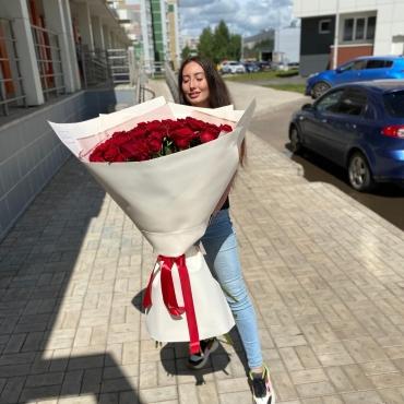 Букет 51 Роза (100 см)