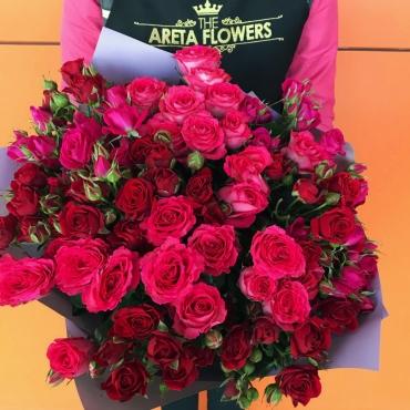 Букет из кустовых роз «Супер Восторг»