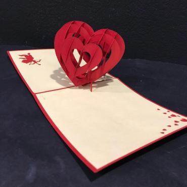 Открытка ручной работы «Святой Валентин»