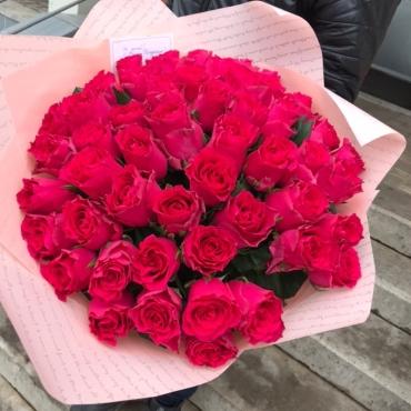 Большой букет из 51 сортовой розы