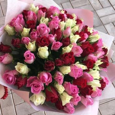 101 роза Кения «Мини розы»