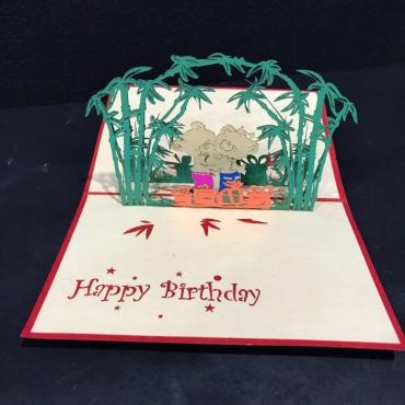 Открытка ручной работы с днем рождения «Тропики»